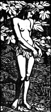 wood-engraving of Eve without Adam